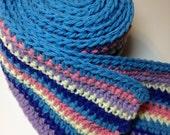 Hydrangea Inspired Stripe Scarf