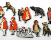 Little Red Riding Hood - Collection of 10 Laser Cut Wood Craft Pieces