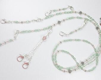 Pastel Princess Crystal Beaded Needlework Chatelaine
