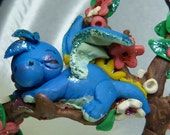 Wee Dragon Ooak  OOAK Polymer Clay Fantasy Miniature Art Dragon Handcrafted Original Art Sculpture ITEM PRopom827547