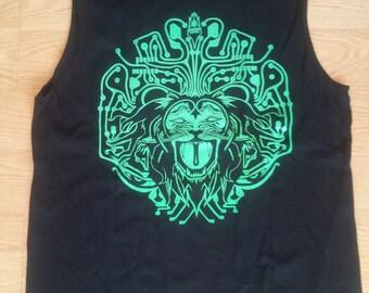 SALE! Cyber lion Mens Muscle T Shirt