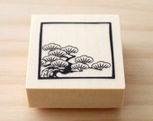 Rubber stamp - Japanese pine design stamp