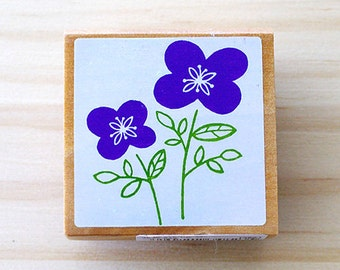 Nordic stamp - Two lovely flowers - Middle size