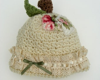 Crochet Apple Hat Patterns Baby Crochet Pattern Photo Prop Infant Crochet Pattern Fall Fashion No. 64