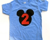 Mouse Ears Birthday Shirt for Family Vacation Black Number or Letter Add Personalization