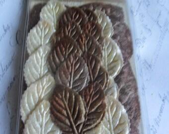 Pretty Brown and Cream Velvet Leaves by 7 Gypsies