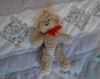 4in Shiny Cream Kitty Toy