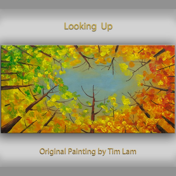 Oil Paintings of Fall Trees Oil Painting Looking up Fall