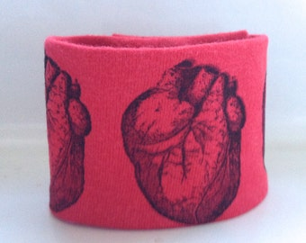 Wrist Cuff Wrist Wallet Anatomical Heart or Tattoo Cover