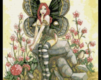 Butterfly fairy counted cross stitch kit