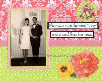 Obey Funny Wedding Or Engagement Greeting Card