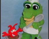 Cajun Gator & Crawfish Crochet Patterns, crochet alligator, crochet Louisana dolls, Crochet animals