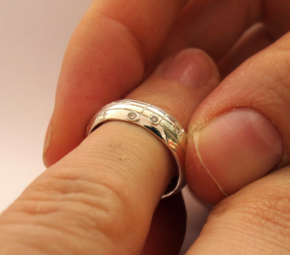 Your Song Wedding Ring Set Yellow White Rose Gold Made to Order