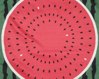 Watermelon Fabric Japanese Furoshiki Wrapping Cloth Cotton Red and Green w/Free Insured Shipping