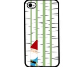 Phone Case - Gnome in the Forest - Hard Case for iPhone 4, 4s, 5, 5s, 5c, 6, 6 Plus - iPod Touch 4, 5 - Galaxy S3, S4, S5
