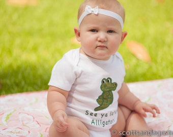 See Ya Later Alligator After While Crocodile Bodysuit Tshirt