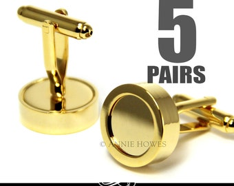 Gold Photo Cuff Links. Make Your Own DIY Custom Photo Cuff Links for the Wedding Party. Annie Howes. 5 Pairs.