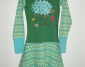 Upcycled Repurposed Hedgehog Dress In Size 2-3-4