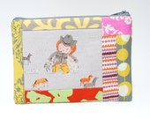SALE - Playing Horses Patchwork Pouch