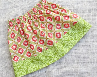 Size 3T/4T - ENGLISH GARDEN Simple Skirt- Boutique Girls Skirt - ooak