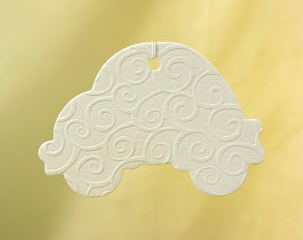 Embossed Car Air Freshener - Swirls