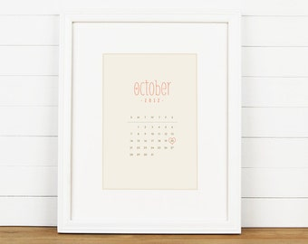 CALENDAR Personalized Art Print - Personalized Couples Wedding Art