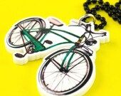 Retro Schwinn Bicycle Necklace - Laser Cut