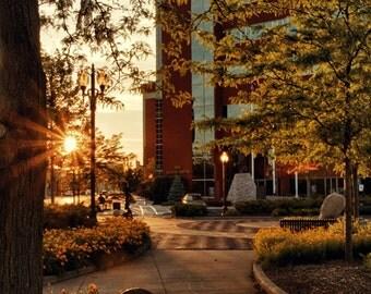Neenah One Center Sunset - Fox Cities - Wisconsin -  Home Decor