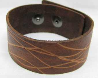 Leather Cuff - Round Up