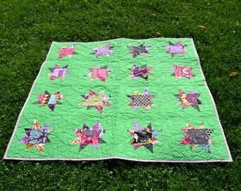 lap quilt-wonky stars