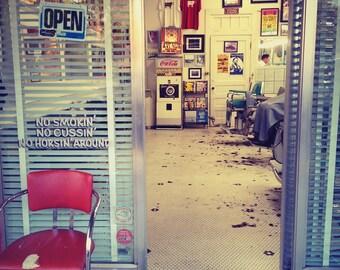 Austin Barbershop Metallic Photograph