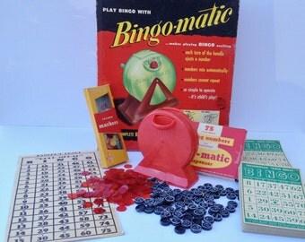 Vintage 1950's Bingo-matic Transogram Bingo Game