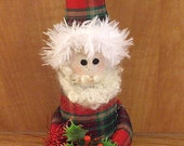 Christmas Red Santa Claus Ornament  Decoration Shelf Sitter