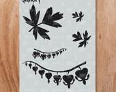 Bleeding Hearts Stencil- Reusable Craft & DIY Stencils- S1_01_105 -8.5x11- By Stencil1