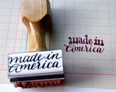 Made in America Rubber Stamp // Made in the U.S.A // hand lettered calligraphy stamp
