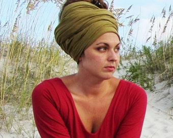ORGANIC Head Wrap or Scarf (light hemp and organic cotton knit)