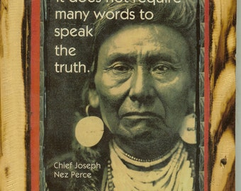 Chief Joseph - Nez Perce - Wooden Plaque