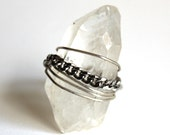 CUSTOM ORDER for Elaine - Crystal and Chain Ring that Rocks size 7