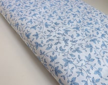 Fat Quarter Timeless Treasures Bella Blue Rose C2151 Blue White Quilting Sewing Fabrics Vines Leaves