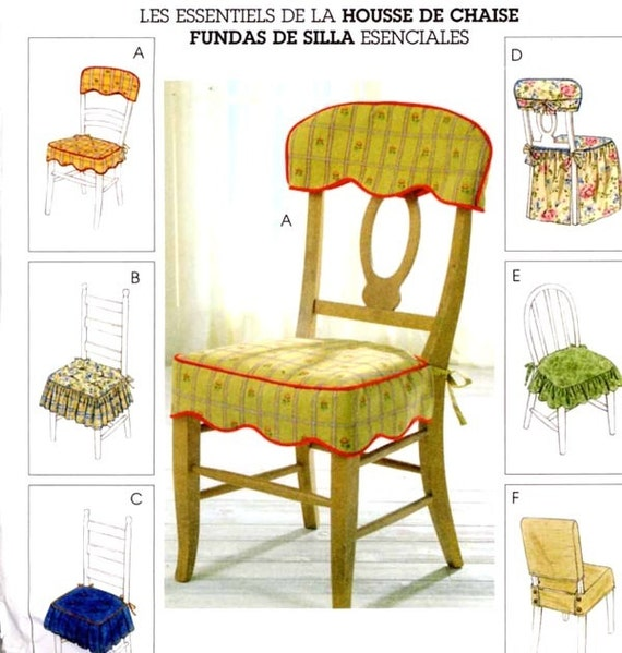 Home Decor Sewing Ideas: Retro Style Chair Covers Home Decor Sewing Pattern McCalls