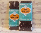 Vintage Brown Jumbo Rick Rack----Set of 2 Packages
