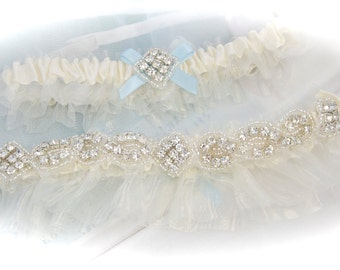 Weddings, Wedding Garter, Bling Garters, GarterLady Garters, Something Blue, Wedding Clothing, Garter