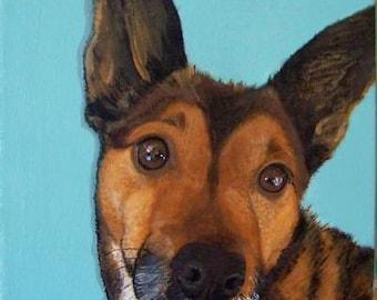 Modern Custom Pet Portrait            12in x 12in