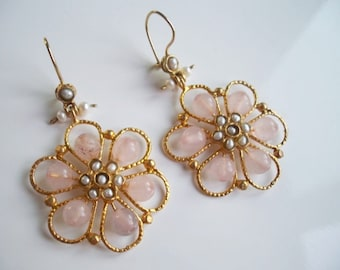 Queen Flower Pink earring
