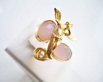 ANGEL Special Pink Quartz Dual ring