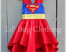 Superhero Supergirl Superman Dress, Superhero Supergirl Superman Costume, Superhero Birthday Party, Boutique Girl Clothes Dress Up