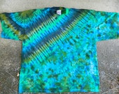 2X I LOVE GREEN Tie-dyed T-shirt