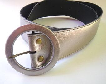 Silver Belt Vintage 80s Size S Hip Hop Boho