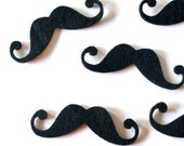 Set of 20  felt mustaches
