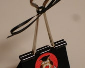 LARGE binder clip recipe - gift card - photo holder SCHOOL DAYS